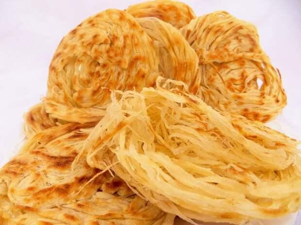 Самая слоеная лепешка в мире из простых продуктов. рецепт, лепешки, слоеные лепешки, вкусно, готовка, другая кухня, видео