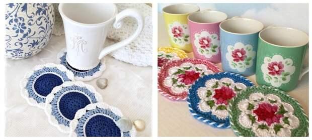 Для уютного чаепития: подставки под чашки своими руками