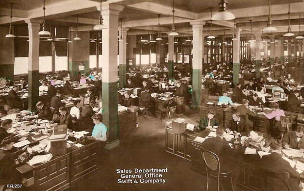 Офисы в начале XX века
