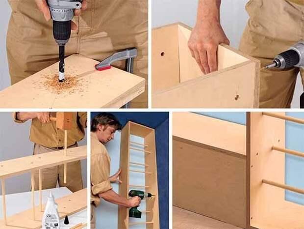 Шкаф-трансформер с мобильной передней панелью