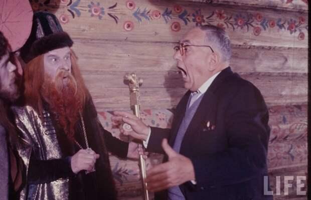 """На съемках фильма """"Сказка о царе Салтане"""". 1967 год."""