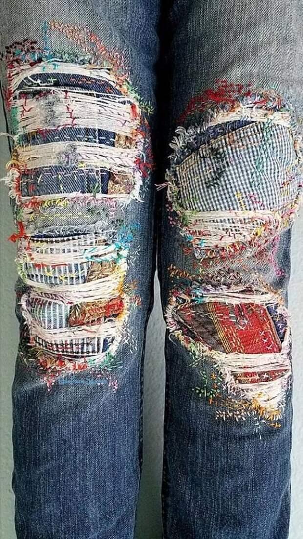 Перештопанные джинсы