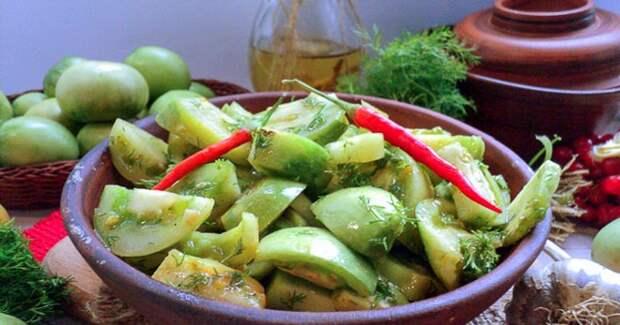 Салат из зеленых помидор на зиму - вкусные рецепты оригинальной домашней консервации