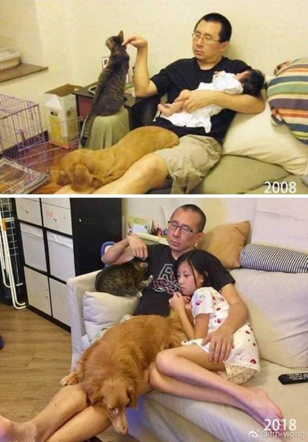 19 фото «до и после», которые в двух кадрах расскажут, что такое время.