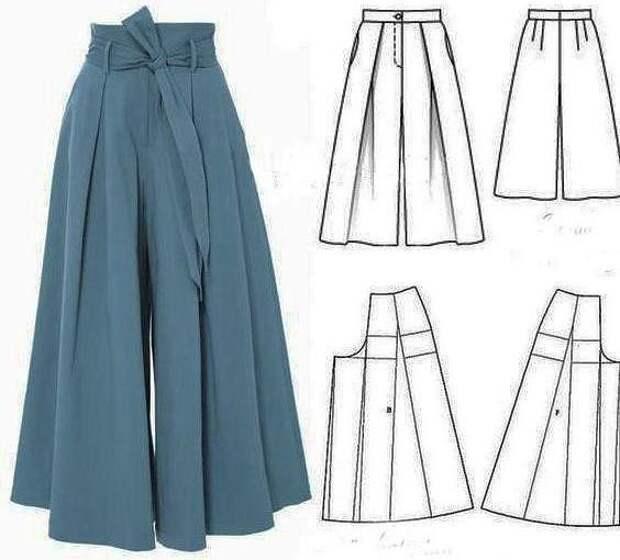 Моделирование юбки-брюк 1