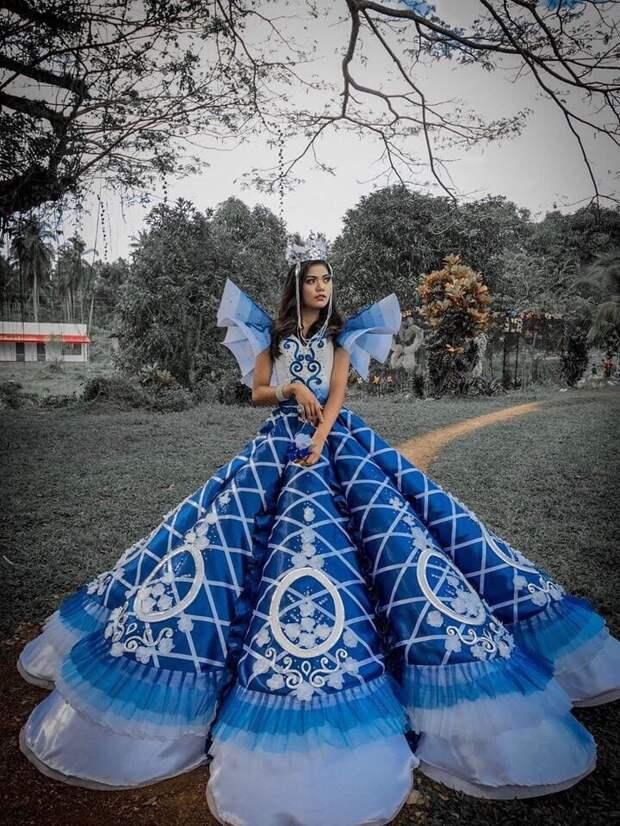 платье на выпускной своими руками