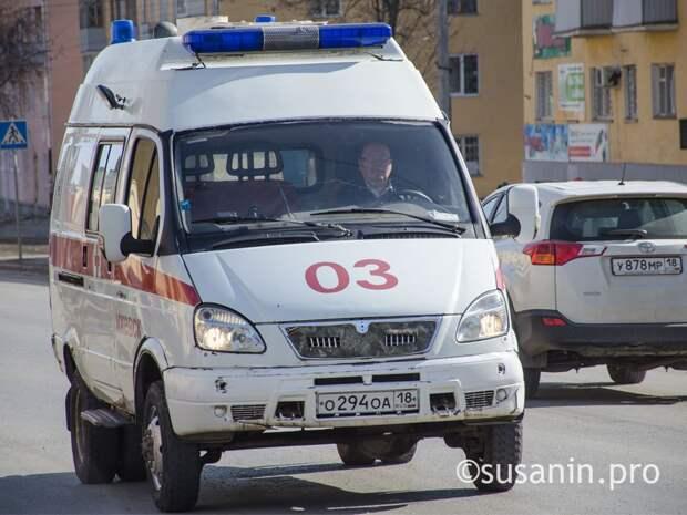 Женщина и ребенок пострадали в ДТП на улице Удмуртской в Ижевске