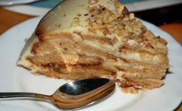 Холодный торт «Песочный рай». Быстро и вкусно!