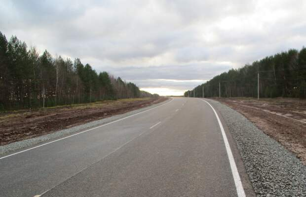 В Удмуртии завершили первый этап реконструкции дороги Сарапул – Воткинск