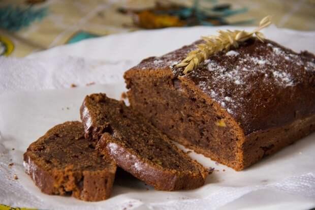 Шоколадно-банановый кекс: готовим без лишней посуды банан, бананово-шоколадный кекс, кекс, рецепт, шоколад