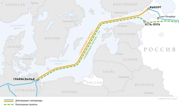 Прибалтика решила поменять отношение к «Северному потоку — 2»