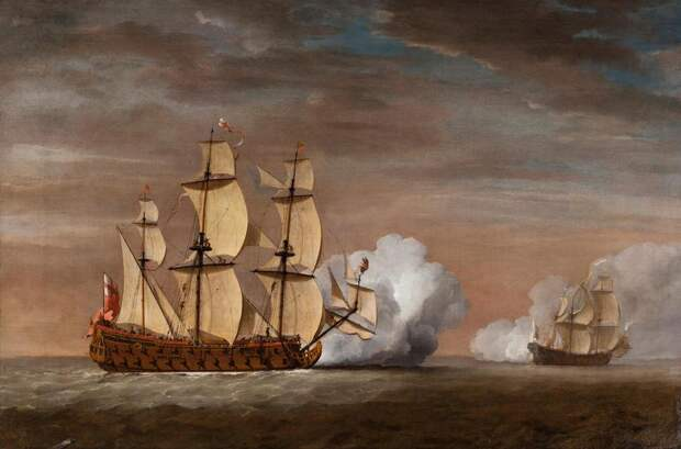 Английский корабль преследует корсара - Великие крейсерские войны. Франция против Аугсбургской лиги   Военно-исторический портал Warspot.ru