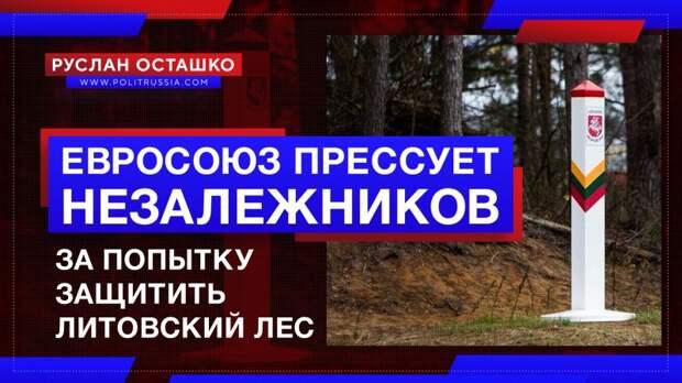 Евросоюз прессует незалежников за попытку защитить литовский лес
