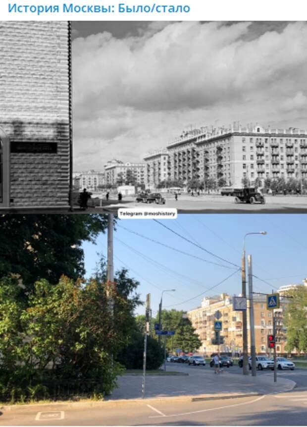 Фото дня: Новопесчаная улица на снимках с разницей в 65 лет