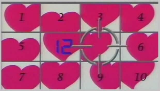"""Экран с """"сердцами"""", п. """"Любовь с первого взгляда"""". (Источник изобр.: stagila.ru)."""