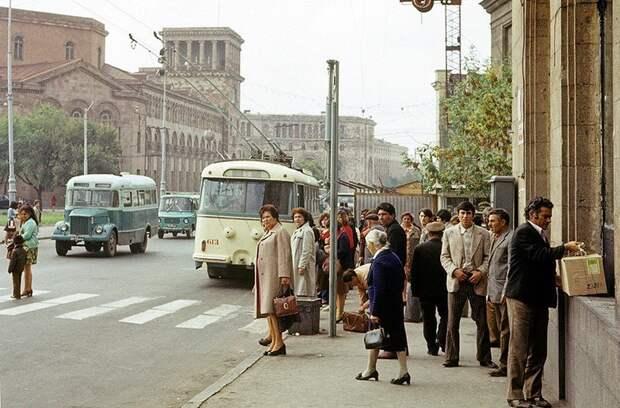Советский Ереван в цвете.