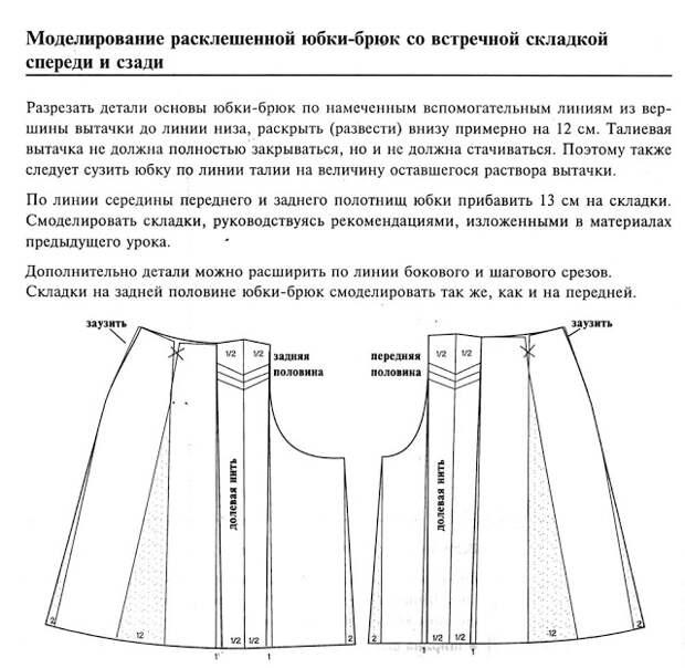 Моделирование юбки-брюк 3