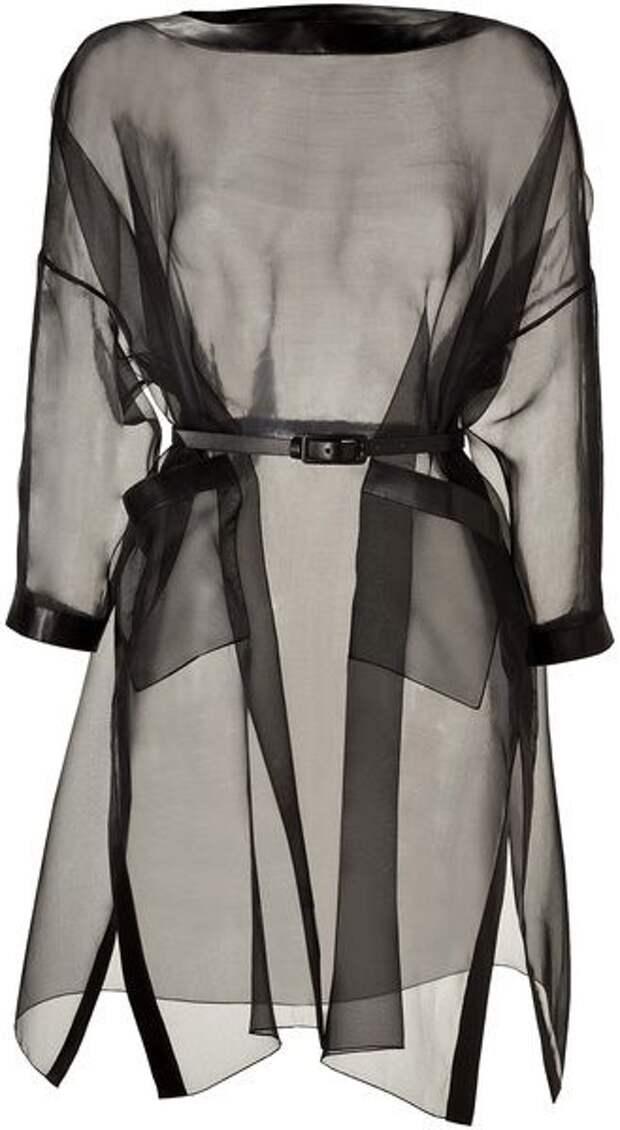 блузка туника из прозрачной ткани