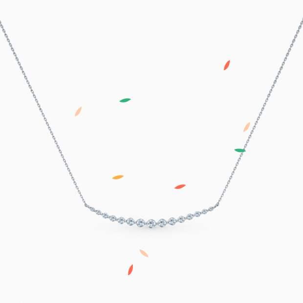 Колье SL, белое золото, бриллианты
