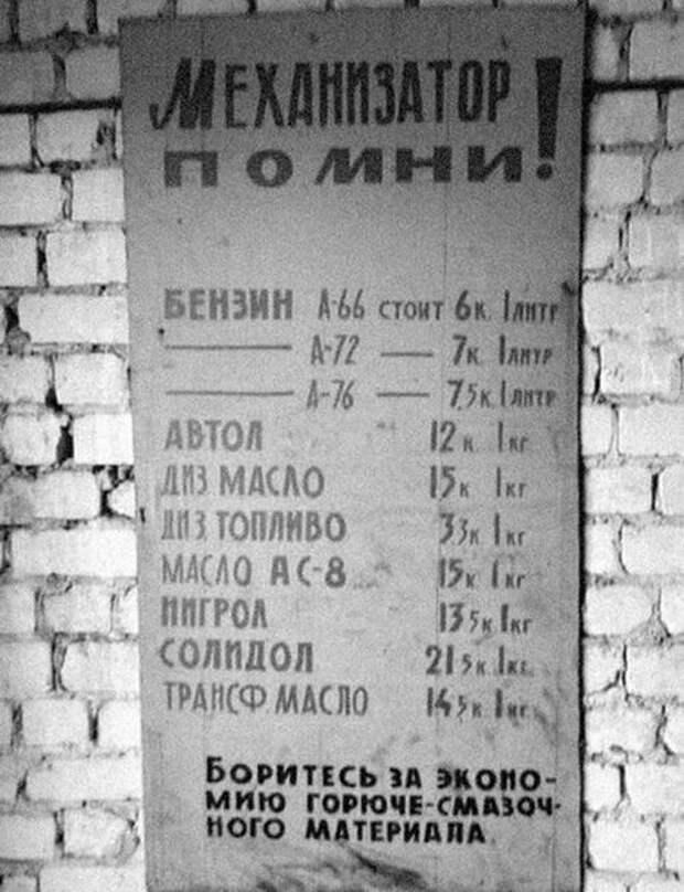 Стоимость бензина, дизтоплива, масел в СССР, и агитация к их экономии:  mexanizm — LiveJournal