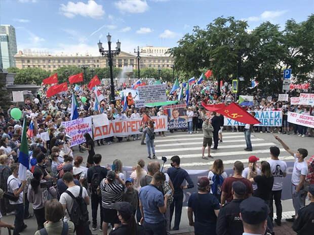 протесты в Хабаровске(2020) Фото: vk.com/spobuhov