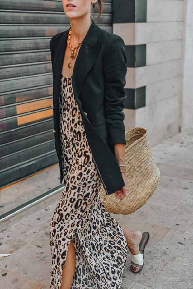 Сарафан леопардовый