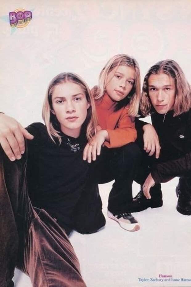7. Hanson 90-е, Популярность, актеры, звезды, парни, певцы, топ, фото
