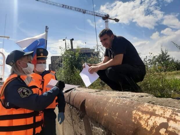 Государственный пожарный надзор проводит совместное патрулирование с ГИМС