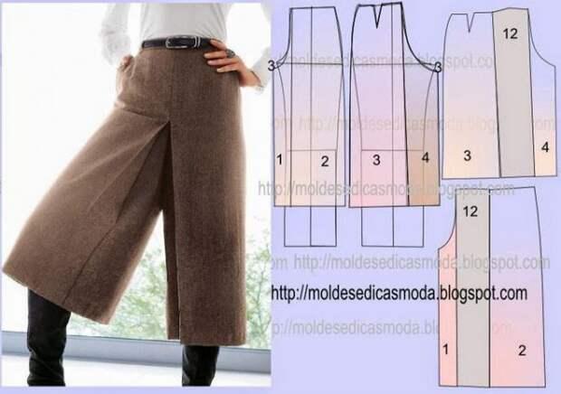 Моделирование юбки-брюк 2