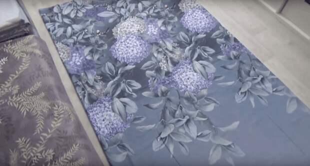 Красивые обои при помощи ткани. Просто, недорого и оригинально