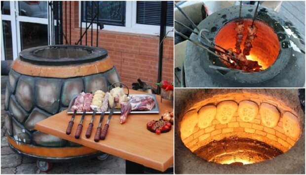 Для того, чтобы готовить разнообразные блюда в тандыре, нужно иметь дополнительные приспособления. | Фото: domolist.ru.