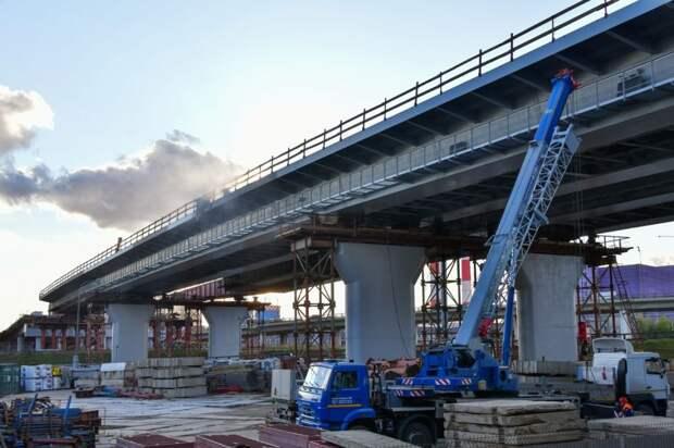 Основные конструкции путепровода уже установили / Фото: Денис Афанасьев