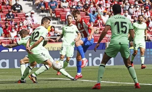 «Атлетико» и «Атлетик» разошлись без забитых мячей