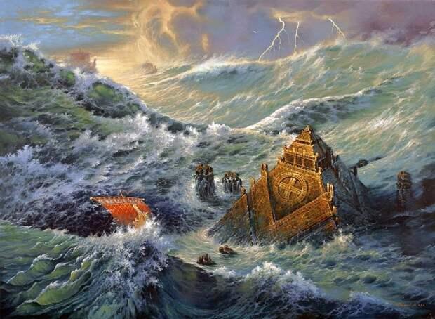Так затоплялась Атлантида