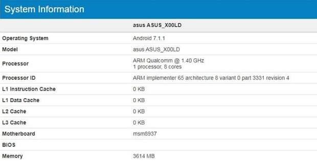 ASUS готовит новые смартфоны на платформе Snapdragon 430