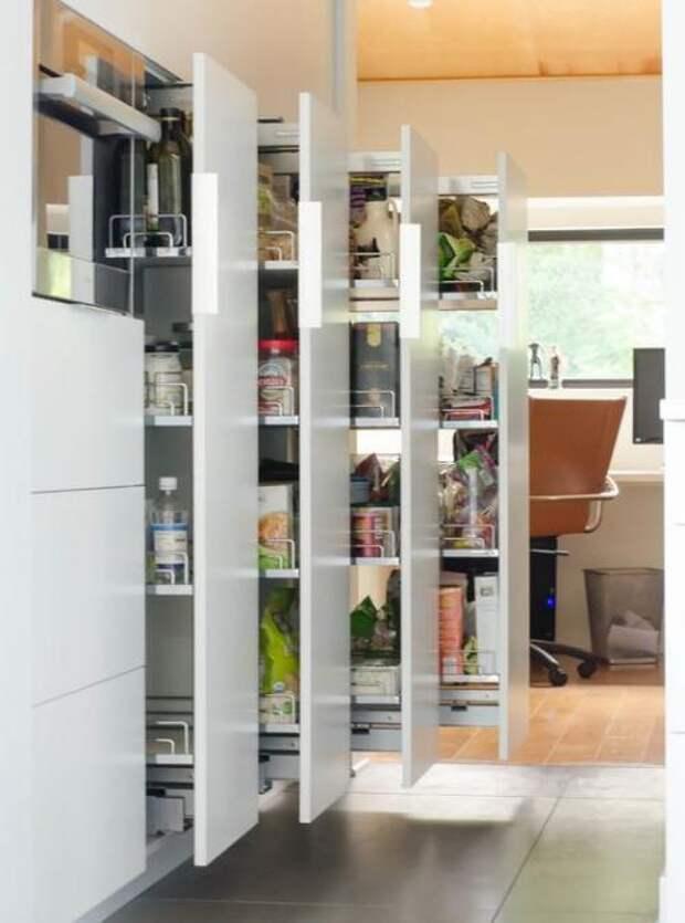 Удобное хранение продуктов на кухне: фото идеи 08