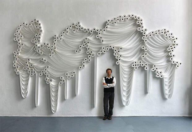 Абстрактные картины из туалетной бумаги