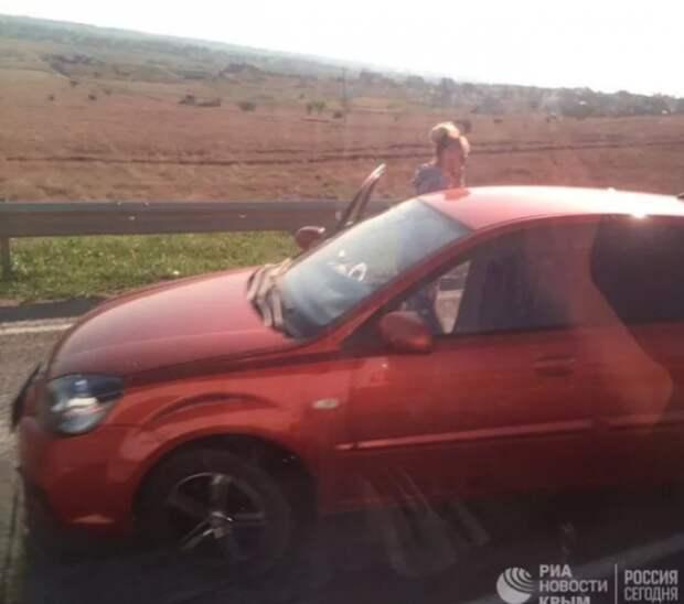 На трассе Симферополь-Евпатория произошла жуткая авария (ФОТО)