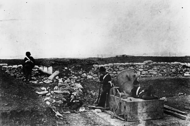 Минометчики во время осады Севастополя