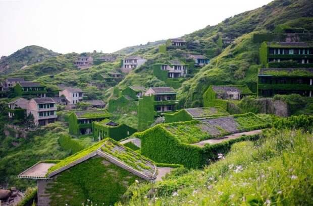 Деревня в Китае, окутанная травой