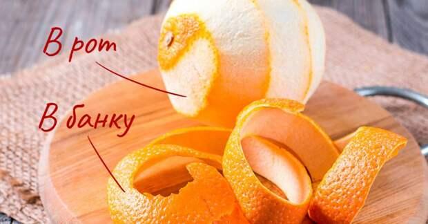 Применение апельсиновой кожуры