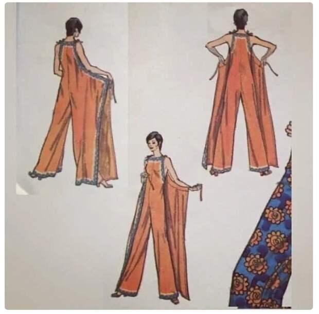 Ретро комбез и платье (выкройки)