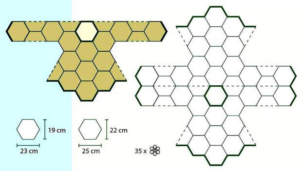 Универсальные схемы для моделей из вязаных мотивов