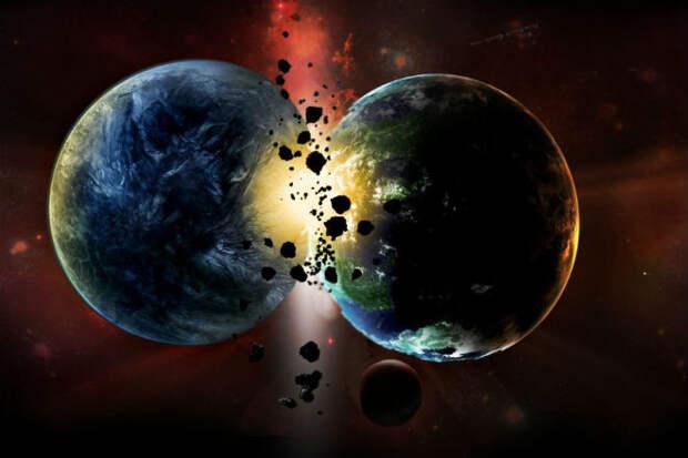 Как происходит столкновение двух планет: ученые показали модель