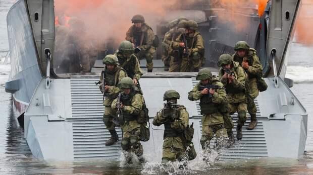 Морпехи Балтийского флота готовы к «битве за остров» в День ВМФ России