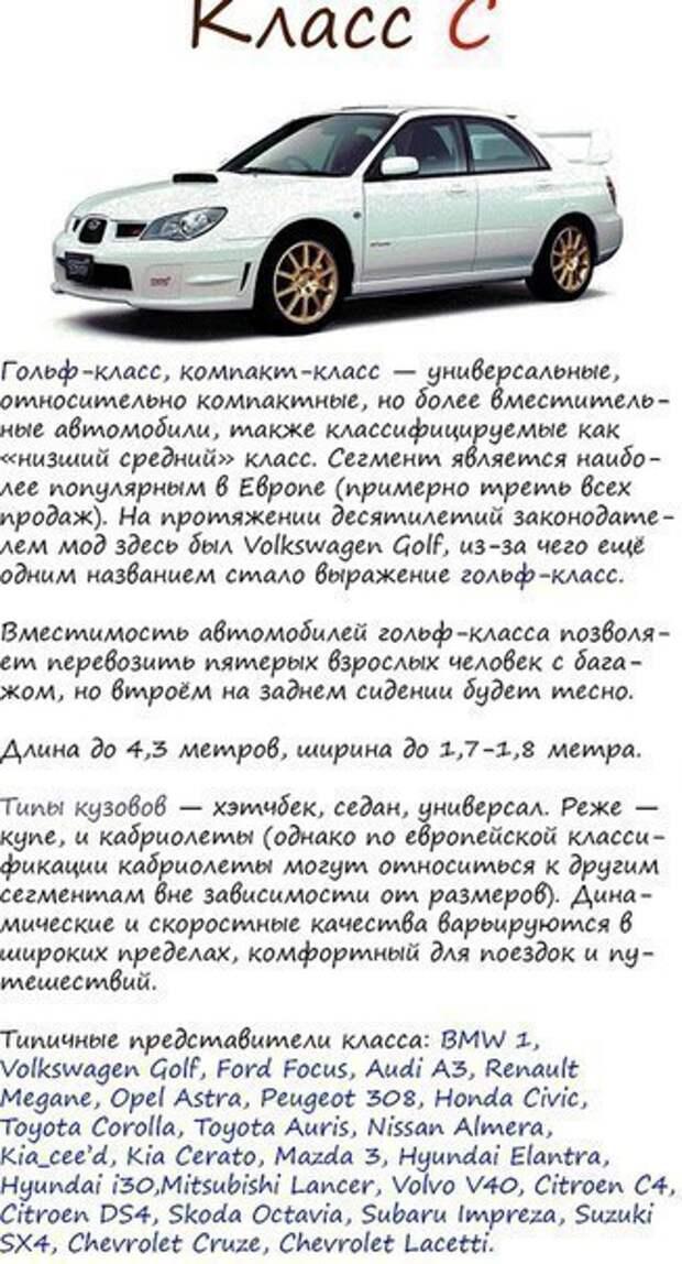 Классификация автомобилей 3