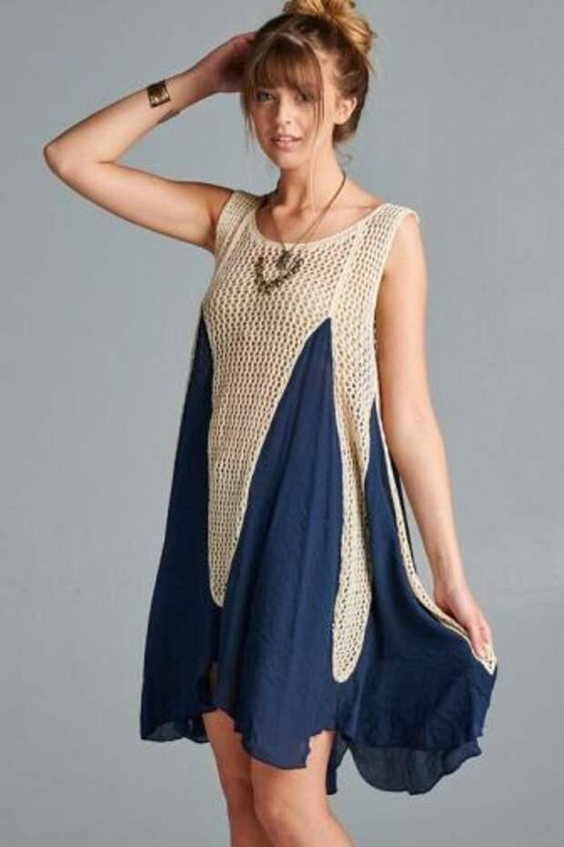 Летнее комбинированное вязание, подборка