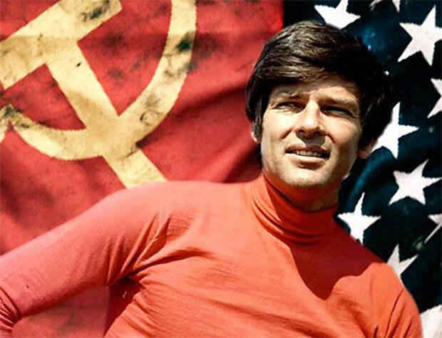 Дин Рид, как символ советско-американской дружбы.