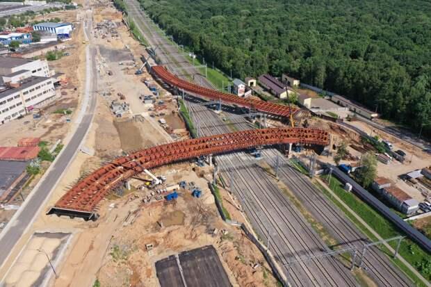 Началось бетонирование участка СВХ между Отрадным и Марфино