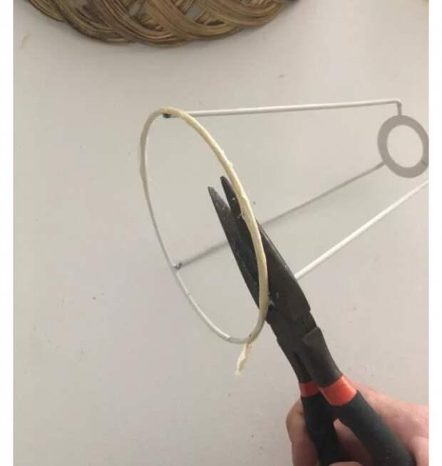 как сделать настольную лампу новый абажур